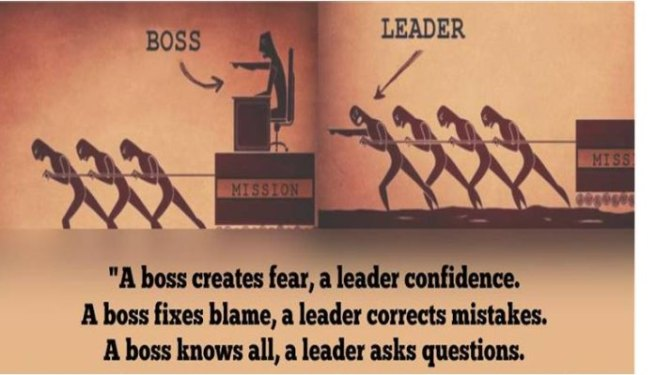 Boss versus leader picture