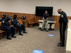 Pic of prayer for new officers 09-11-20